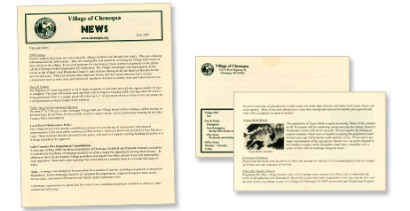 Picture of Ivory and Forest Green Newsletter