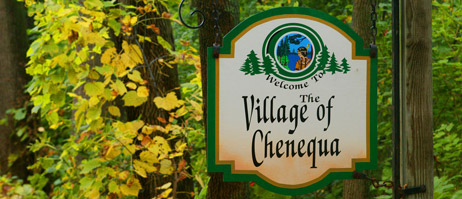 Chenequa Sign Near Village Hall, Photo copyright Jack MacDonough